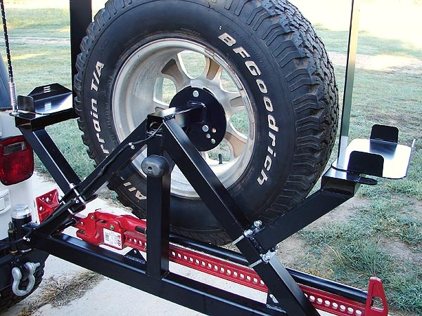 rock hard 4x4 patriot series rear bumper with tire carrier for 1976-2006  jeep wrangler