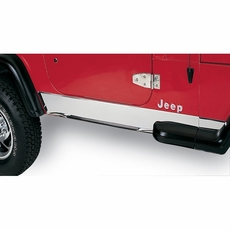 Rocker Panel Cover, Stainless Steel, 97-06 Jeep Wrangler by Rugged Ridge