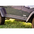 ( 1150415 ) Heavy Duty Rocker Panel Guards, 97-06 Jeep Wrangler by Rugged Ridge