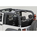Roll Bar Cover, Black Vinyl, 07-17 Jeep Wrangler by Rugged Ridge