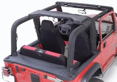 Full Roll Bar Cover Kit, 97-02 Jeep Wrangler by Rugged Ridge