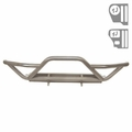RRC Front Bumper with Grille Guard, Titanium, 87-06 Jeep Wrangler by Rugged Ridge