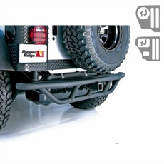 RRC Rear Bumper, 2-Inch Receiver Hitch, 87-06 Jeep Wrangler by Rugged Ridge
