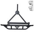 RRC Rear Bumper, 2-Inch Hitch and Tire Carrier, 87-06 Jeep Wrangler by Rugged Ridge