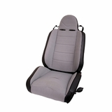 RRC Off Road Racing Seat, Reclinable, Gray, 76-02 Jeep CJ and Wrangler by Rugged Ridge