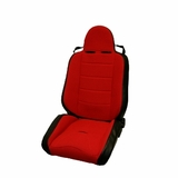 ( 1340653 ) RRC Off Road Racing Seat, Reclinable, Red, 76-02 Jeep CJ and Wrangler by Rugged Ridge