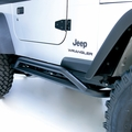 ( 1150411 ) RRC Rocker Guards, Black, 87-06 Jeep Wrangler by Rugged Ridge