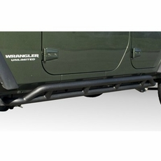 RRC Rocker Guards, Black, 07-17 Jeep Wrangler Unlimited by Rugged Ridge