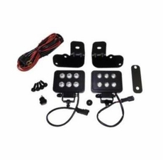 RT Off-Road 4-inch LED Block Lamp Kit for Jeep Wrangler JK