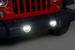RT Off-Road H16 LED Fog Lamp Kit for 2010-15 Jeep Wrangler JK