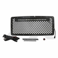 "( RT28041 ) 20"" LED Light Bar & Stainless Steel Grille Kit for 2007-18 Jeep Wrangler JK By RT Off-Road"