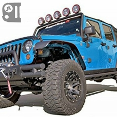 All Terrain Flat Fender Flare Kit, 07-14 Jeep Wrangler by Rugged Ridge