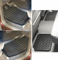 Rugged Ridge - All Terrain Front & Rear Floor Liner Mat Set  - Dodge Ram 1500 2500 3500, 82987.41