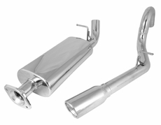 Stainless Steel Cat Back Exhaust System, 2000-06 Jeep Wrangler TJ
