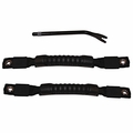 Door Pull Straps, Black, 97-06 Jeep Wrangler by Rugged Ridge