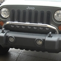 Bumper Mounted Light Bar, Stainless Steel, 07-17 Jeep Wrangler by Rugged Ridge