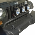 ( 1123220 ) Bumper Mounted Light Bar, Textured Black, 07-17 Jeep Wrangler by Rugged Ridge