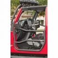 Front Tube Doors, Textured Black, 07-17 Jeep Wrangler by Rugged Ridge