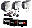 5-Inch x 7-Inch Halogen Fog Light Kit, Black Steel Housings by Rugged Ridge