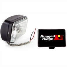 5-Inch x 7-Inch Halogen Fog Light, Black Steel Housing by Rugged Ridge