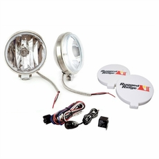 6-Inch Slim Halogen Fog Light Kit, Stainless Steel Housings by Rugged Ridge