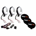 6-Inch Halogen Light Kit, Black Steel Housings by Rugged Ridge