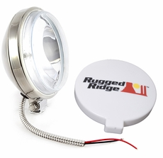 6-Inch Slim Halogen Fog Light, Stainless Steel Housing by Rugged Ridge