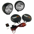 ( 1520552 ) 5-Inch Round HID Off Road Fog Light Kit, Black Steel Housing by Rugged Ridge