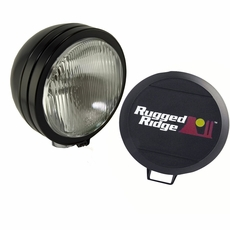 5-Inch Round HID Off Road Fog Light, Black Steel Housing by Rugged Ridge