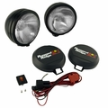 ( 1520551 ) 6-Inch Round HID Off Road Fog Light Kit, Black Steel Housing by Rugged Ridge
