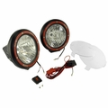 7-Inch Round HID Off Road Light Kit, Black Composite Housing by Rugged Ridge