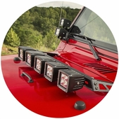 Rugged Ridge Hood Light Mounts