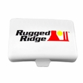 5-Inch x 7-Inch Rectangular Off Road Light Cover, White by Rugged Ridge