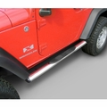 ( 1159307 ) 4 1/4-inch Oval Side Steps, Stainless Steel, 07-17 Jeep Wrangler by Rugged Ridge