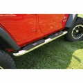 ( 1159310 ) 4-inch Round Step, Stainless Steel, 07-17 Jeep Wrangler Unlimited by Rugged Ridge