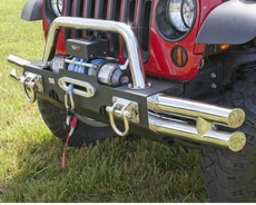 Tube Ends, XHD Modular Front Bumper, Stainless Steel by Rugged Ridge