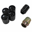 Five Piece Wheel Lock Set 1/2 -20 Thread Black by Rugged Ridge
