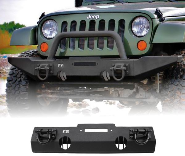 XHD Winch Mount Front Bumper, 07 17 Jeep Wrangler By Rugged Ridge