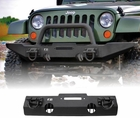XHD Winch Mount Front Bumper, 07-17 Jeep Wrangler by Rugged Ridge