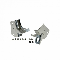 Windshield Light Brackets, Stainless Steel, 97-06 Jeep Wrangler by Rugged Ridge