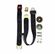 Black Front Seat Belt, Non-Retractable, fits 1941-75 Jeep & Willys Models