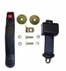 Black Front Seat Belt, Retractable, fits 1941-75 Jeep & Willys Models