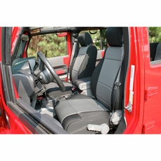 Neoprene Front Seat Covers, Black and Gray, 11-17 Jeep Wrangler by Rugged Ridge