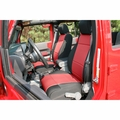 Neoprene Front Seat Covers, Black and Red, 11-17 Jeep Wrangler by Rugged Ridge