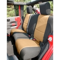 Neoprene Rear Seat Cover, Black and Tan, 07-17 Jeep Wrangler by Rugged Ridge