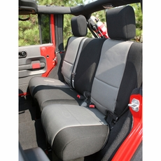Neoprene Rear Seat Cover, Black and Gray, 07-17 Jeep Wrangler by Rugged Ridge