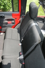 Neoprene Rear Seat Cover, Black, 07-17 Jeep Wrangler Unlimited by Rugged Ridge