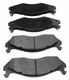 Semi-Metallic Front Disc Brake Pad Set, 1982-86 Jeep CJ, 1987-89 Wrangler YJ & 1984-89 Cherokee XJ