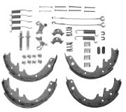 """Shoe Set Master Kit, Fits 1982-1986 CJ with AMC 20 axle, 1987-1989 Wranglers with Model 35 rear axle, 1984-1989 Cherokee XJs with Model 35 rear axle. For 10"""" x 1-3/4"""" brakes."""