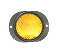 Side Marker Reflector with Amber Lens for Military Vehicles & Trailers
